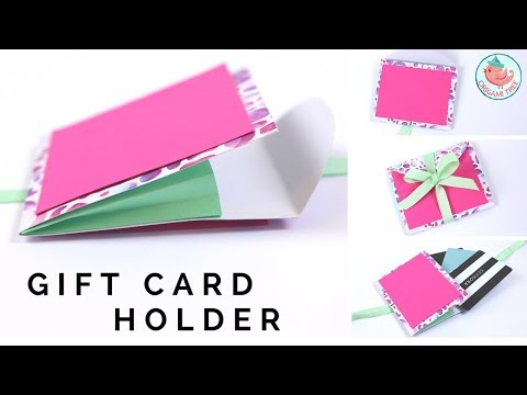 Expanding Gift Card Holder - DIY Card Holder with Paper Accordion that EXPANDS!