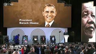 Barack Obama ehrt Nelson Mandela zum 100. in Johannesburg