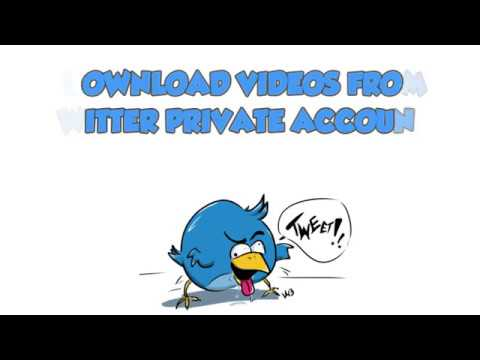 Download videos from Twitter private accounts 2018