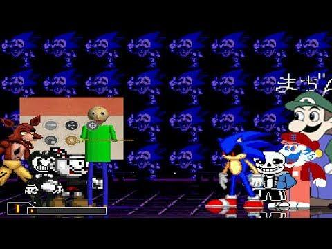 Baldi - Cuphead - Bendy - Foxy vs Sonic exe - Sans - Grand Dad