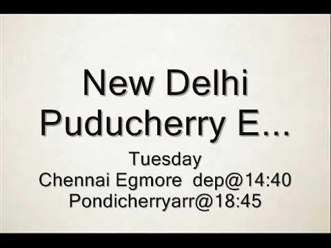 chennai to  pondicherry train  timings