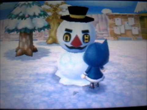 Animal crossing New leaf - Snowman bingo time