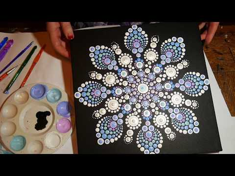 How to paint dot mandalas with Kristin Uhrig-#29  Snowflake