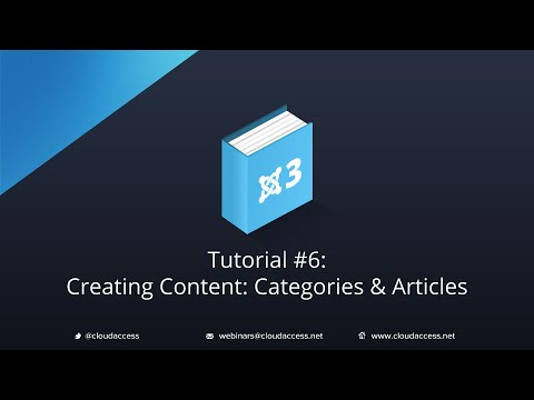 Getting Started with Joomla 3 & CloudBase 3: Creating Content: Categories & Articles - Tutorial #6