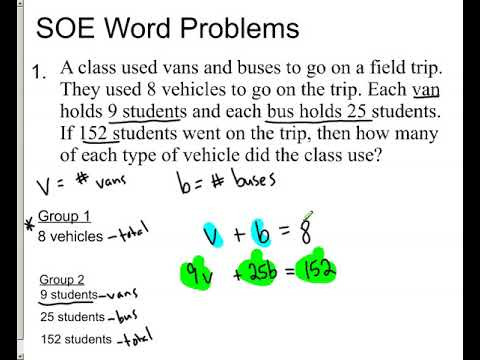 SOE word problems