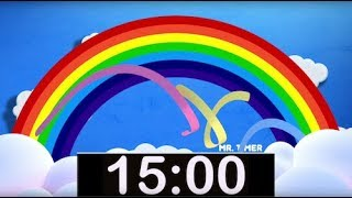 10 Minute Rainbow Timer with Music! Countdown Timer for Kids