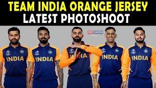 Team India ORANGE JERSEY Released | Latest Photoshoot | India vs England 2019 World Cup