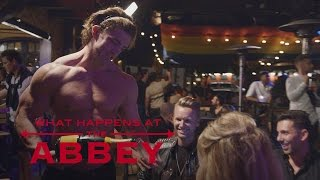 """Brandi Glanville Gets Handsy at """"The Abbey""""   What Happens at The Abbey   E!"""
