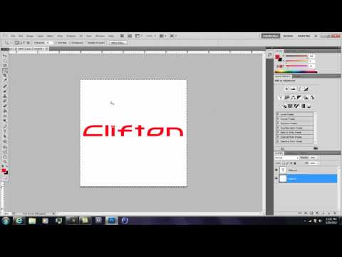 How to create Youtube Logo without a Background in Photoshop CS5