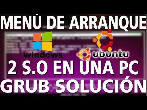 Dual Boot crear Menú de arranque grub desde Linux   WINDOWS Y UBUNTU EN LA MISMA PC