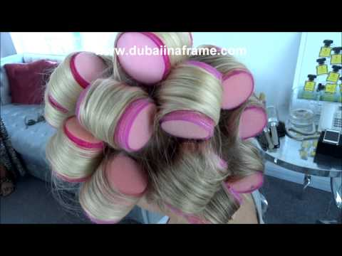How to wear sleep in rollers