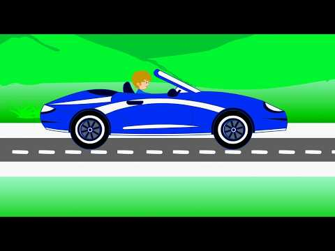 driving a car 2D animation with flash