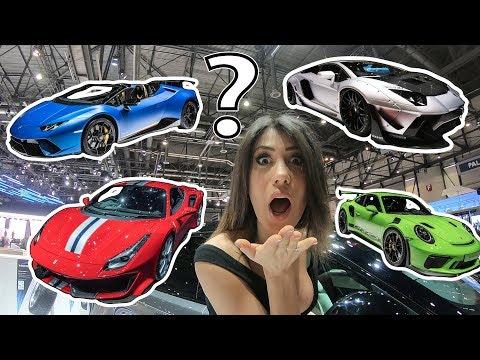 What sports car did I choose at Geneva Motorshow 2018?