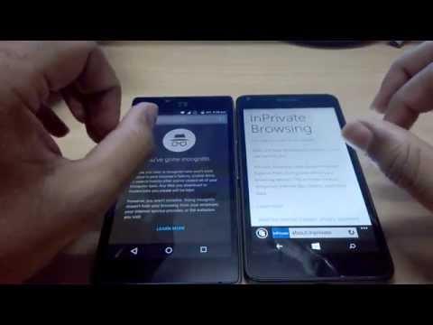 229) Activate Incognito mode on windows phone(I.E.) & android(Chrome)
