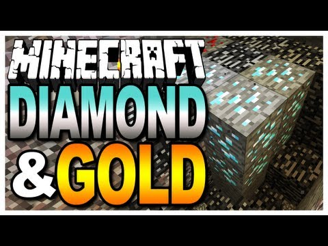 Minecraft - Finding Diamonds and Gold (Map Giveaways in the Description)