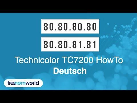 Freenom World Technicolor TC7200 HowTo (German)