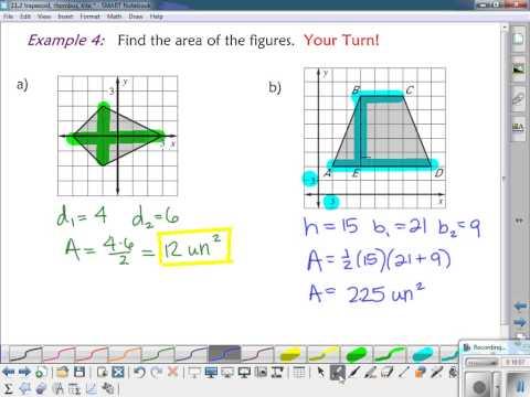 11.2 area of trapezoid, rhombus, kite