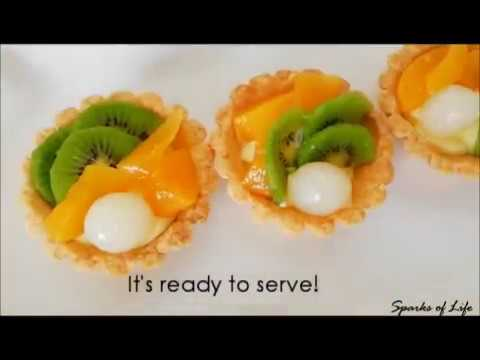 How to make fruit tart/ Easy step by step tutorial