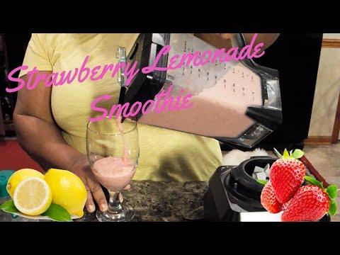 How to Make: Strawberry Lemonade Smoothie Tutorial