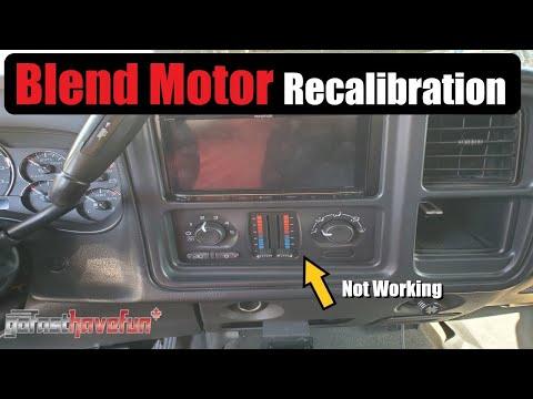 HVAC Blend Motor Actuator Recalibration Procedure for GM Trucks & SUVS