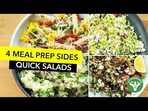 4 Meal Prep Side Salads / 4 Ensaladas para Almuerzo