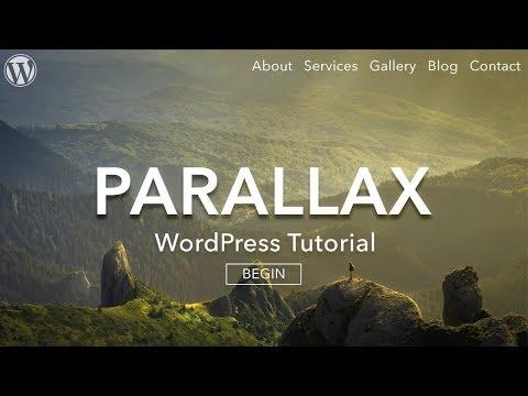 How to Make a Parallax WordPress Website - AMAZING!