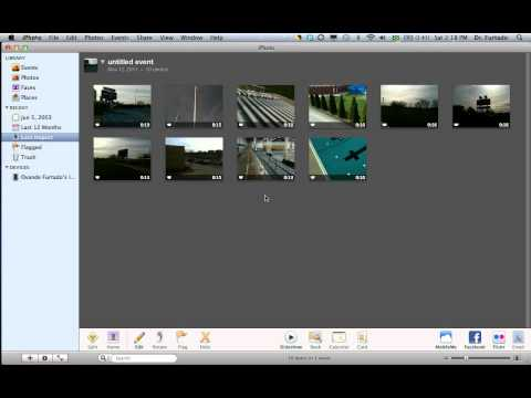 [iMovie] Importing videos from iPhoto