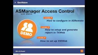 Geovision - Training Lecture - #28 Gv-asmanager Access Control_livedemo