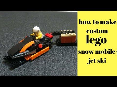 How to make custom LEGO snow mobile/jet ski