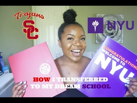 HOW  I GOT INTO MY DREAM SCHOOLS (USC & NYU) | WHY I'M TRANSFERRING