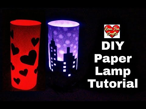 DIY - Paper Lamp Tutorial   How to Make Paper Lamp