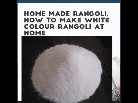 How To Make White Color Rangoli At home, How To Make White Rangoli, How To Make Rangoli In Home