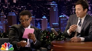 Denzel Washington Dramatically Reads Greeting Cards
