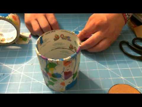 TUTORIAL: Duct Tape Pen/Pencil/Flower Holder
