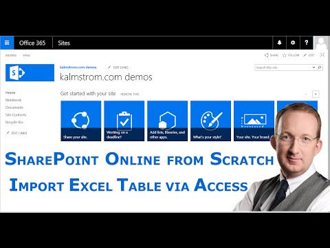 Access import of Excel table to SharePoint Online  list