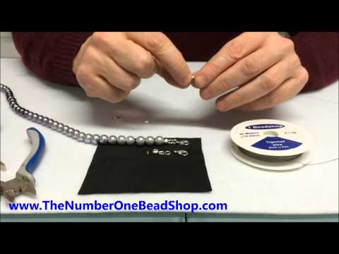 How to finish a necklace or bracelet using wire guard or crimp cover