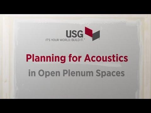 Planning for Acoustics in Open Plenum Spaces