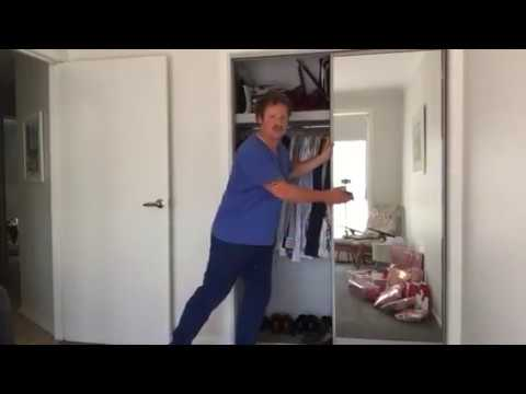 How to adjust sliding doors on a built in robe - Home Improvement