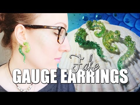 Fake Gauge Earrings for Mermaids