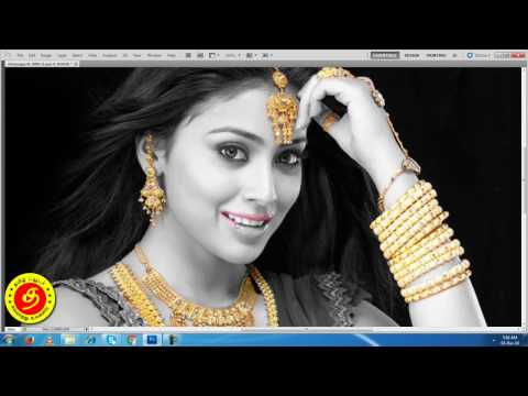 Photoshop black and white image with gold effect  - Part 23