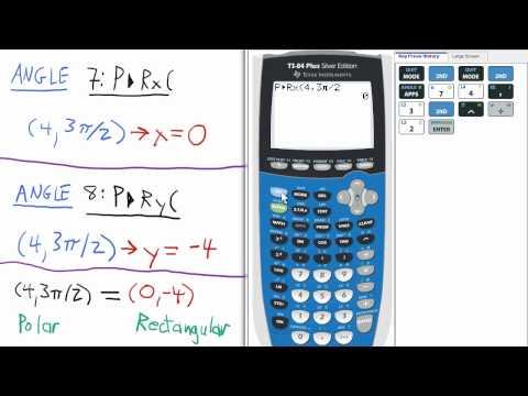 Convert Polar to Rectangular TI 84 Calculator