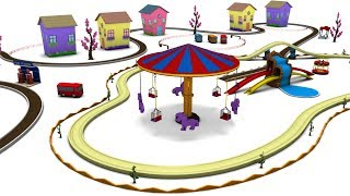 Playground for kids - Toy Train for children - trains for children  - train videos - Cartoon