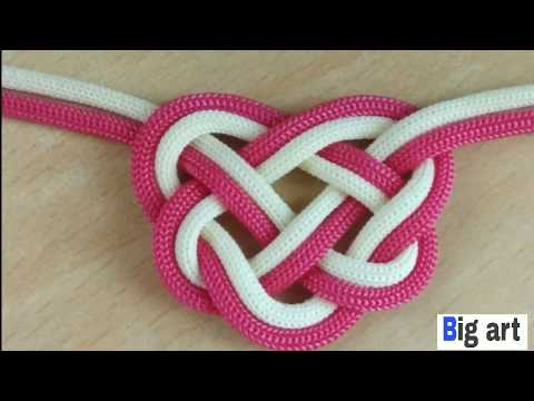 How to make the double Celtic heart knot (paracord)