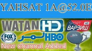 Good News||Yahsat-1A(52 5E) New Channel Added|| MPEG-2 SD/FTA