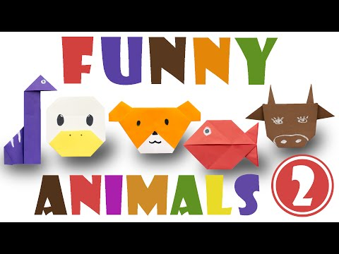 Origami for kids. Top 5 easy origami animals. #2