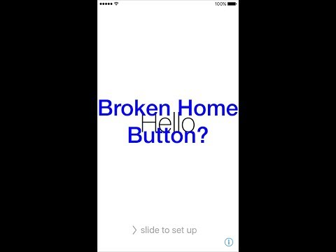 How to Setup iPhone 7/ iPhone 7Plus with out a Home Button, Broken Home Button