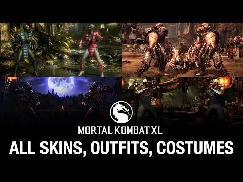 Mortal Kombat XL: All Skins / Outfits / Costumes