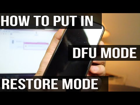 How to put iPhone, iPad & iPod Touch in DFU / Restore Mode