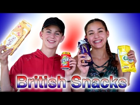 Trying British Snacks! (MattyBRaps & Gracie Haschak)