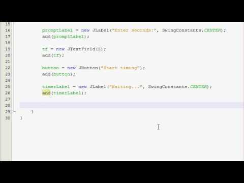Java GUI Tutorial 29 - Timer program (Part 1 of 2)